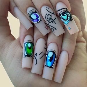 🆕 Sexy Anime Nail Stickers